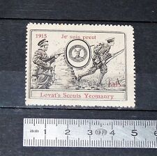 CINDERELLA 1915 TIMBRE VIGNETTE GUERRE 14-18 UK LOVAT'S SCOUTS YEOMANRY WW1