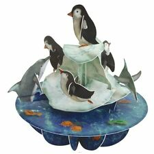 Santoto 3D Pirouette Greeting Card - Penguins