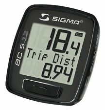 New Sigma Sport BC 5.12 Cycling Wired Bike (Bicycle) Computer Speedometer Black