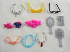 Barbie Doll ACCESSORIES Lot of 12 Pieces Sunglasses Necklaces Hair Clips Brush