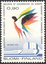 Finland 1975 Swallow/Security Conference/Hall/Buildings/Birds/Nature 1v n13607h