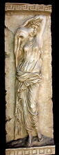Vintage Danaides Argos Greek Wall Plaque Sandstone Antique Finish