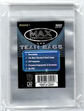 100 Max Pro Resealable Sports Card Team Bags 1-Pack Ultra UV Protected