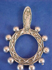 OUR LADY OF GUADALUPE Finger Rosary 1 Decade Silver Metal Healing Pocket Rosary