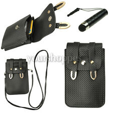 Black Mini Cellphone Shoulder Bag For Samsung Galaxy S7 Edge / Note 5 4 / LG G5