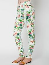 American Apparel Flamingo Print Pencil Pant 29 NWT high waist skinny jean $98!