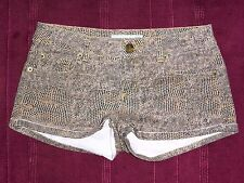 TOPSHOP snakeprint snakeskin stretch shorts hotpants UK 10 W28