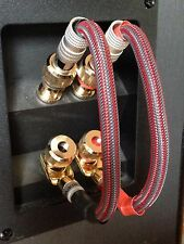 Set 4 Mogami Audiophile Bi Wire Speaker Jumper Cables Nakamichi Spade to Banana