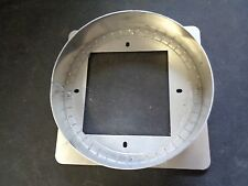 """9"""" ROUND DUCT TO A 5 3/4"""" X 5 1/2"""" SQUARE OPENING ALUMINUM"""