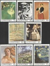 Lesotho 1988 Famous Paintings/Art/Ballet/Music/Artists/Painters 8v set (n16921)