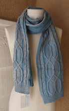 Y & S Los Angeles Brand Wrap Shawl Scarf Cable Sweater Blue Sold @ Anthropologie