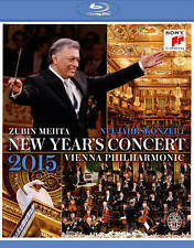 Neujahrskonzert / New Year's Concert 2015 Blu-ray-Free Shipping-Brand New