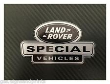1X 150X85MM SILVER LAND ROVER DEFENDER DISCOVERY SPECIAL VEHICLE DECAL STICKER