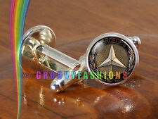 Mercedes Benz Car Cufflinks Mens Silver Shirt Cuff Links Wedding Party Gift