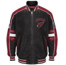 Officially Licensed NFL Arizona Cardinal Varsity Suede Leather Team Jacket XXL