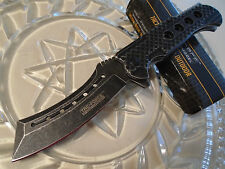 """Tac-Force Assisted Open Panga Black Wash Pocket Knife Solid Steel TF-892 9"""" Open"""