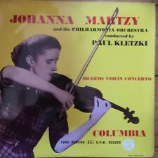33CX 1165 Brahms Violin Concerto / Johanna Martzy B/G