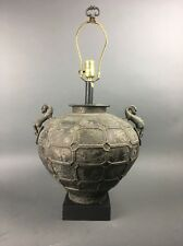 Vintage Hollywood Regency Classical Bronze Dragon Urn Lamp by Pierce Martin