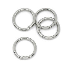 500pcs Stainless Steel Open Jump Rings Findings 8mm