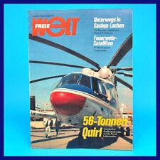 Freie Welt 14/1981 Mi-26 Budapest Erich Baron Aerosalon Paris DDR-Zeitschrift