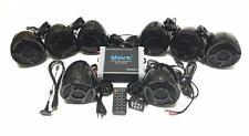 3000 watt 7.1 ch motorcycle marine audio system fm large lcd w/ waterproof case,