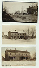 LOT of 3 Real Photos - Old Tavern Ridge Road Clarkson NY 1910-1920 RPPCs & Photo