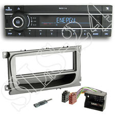 Kienzle MCR1114 SD USB Radio + Ford C-MAX ab07 Blende silber + Quadlock Adapter