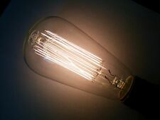 (4 pack) Simple Vintage ST64 Edison Light Bulb E26 40W Squirrel Cage Retro Clear