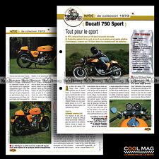#jbt29.007.a ★ DUCATI 750 SPORT 1973 ★ Fiche Moto Sport Bike Motorcycle Card
