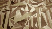 CLARENCE HOUSE ARBOLES BEIGE TAN GEOMETRIC VELVET FURNITURE FABRIC REMNANTS