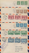 1935 #211-216 George V Silver Jubilee Set of 6 FDCs, Strips of 3, Fort William