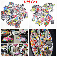 100Pcs Mixed Random Sticker Decal Car ATV Bike Racing Helmet Motorcross Dirt BMX