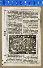 Gospel of Matthew -The Parable of the Workers in the Vineyard -1600s Bible Leaf