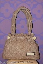 Louis Vuitton Monogram Olympe Stratus PM Ecru Beige Leather Tote $3450 *Limited*