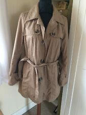 Monsoon tan Trench Style Coat Sz 10