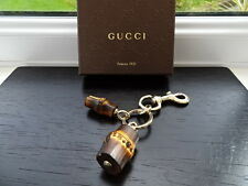 Gorgeous Authentic Gucci Bamboo Keyring / Bag Charm BNIB