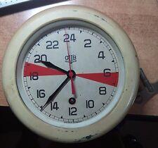 GLASHUTTE /GUB GERMANY Rare navy submarine U BOAT ship wall clock 24h