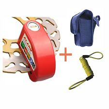 Red Security Anti Thief Motorbike Motorcycle scooter Wheel Disc Brake alarm lock