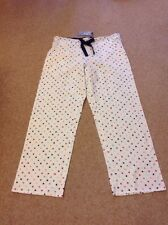 MARKS AND SPENCER LADIES CREAM STAR PYJAMA BOTTOMS SIZE 14 BNWT