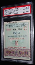 "1962 WORLD CUP CHILE VS ITALY ""BATTLE OF SANTIAGO"" MATCH #10 TICKET PSA RARE!!"