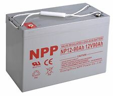 NPP 12V 90Ah 95Ah 100Ah Rechargeable AGM Deep Cycle Long Life Battery