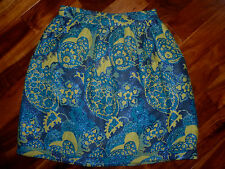 $299 Anthropologie Anna Sui Metallic Peacock Paisley Skirt 8 Tapestry Brocade M