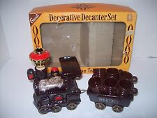 Vintage Antique Train Decanter Set~ W T Grant Original Box ~ Mid Century ~ EXC