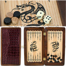 "Portable Backgammon Board 12"" Travel Backgammon Set Backgamon Nardy Нарды"