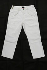 TRUSSARDI SPORT Mens  CREAM Denim Jeans Quality Relaxed Straight Fit IT50 W34