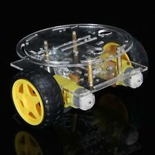 2WD Two Wheel Drive Round Double Deck Smart Robot Car Chassis Kit For Arduino