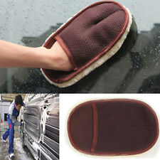 Super Soft Lambswool Car Wash Mitt Deep Pile Car Cleaning Glove Wash LAUS