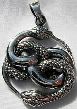 Sterling Silver (925)  Ouroboros  Serpent  Pendant     !!     Brand  New  !!