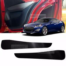 Carbon Door Decal Sticker Cover Kick Protector For HYUNDAI 2013-16 Genesis Coupe