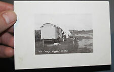 PRIVATE PHOTO POSTCARD CARAVAN Llyn Coron, Bodorgan, Isle of Anglesey  WALES l